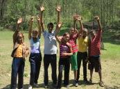 Guanyadors del ginkana esportiu que vam fer aprofitant que havíem acabat els examens
